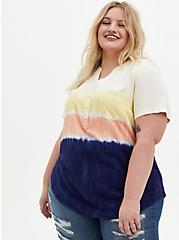 Harper - Multi Dip-Dye Challis Pullover Blouse, MULTI TIE DYE, hi-res