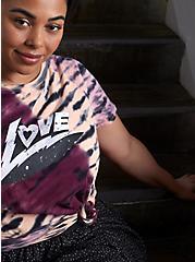 Relaxed Fit Tunic - Heritage Slub Love Tie-Dye Multi, DEEP BLACK, hi-res