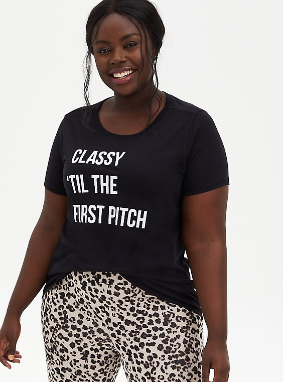 Slim Fit Crew Tee - Classy Pitch Black, DEEP BLACK, hi-res
