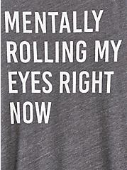 Classic Fit Raglan Tee - Triblend Mentally Rolling Eyes Charcoal Grey, CHARCOAL, alternate