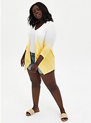 Super Soft Yellow Dip-Dye Cardigan Sweater, SUNDRESS, alternate
