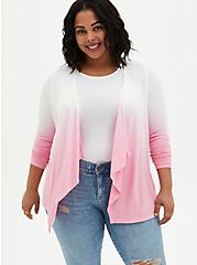 Super Soft Light Pink Ombre Cardigan Sweater, DIANTHUS, hi-res