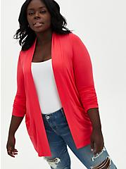 Super Soft Bright Berry Cardigan Sweater, TEABERRY, hi-res