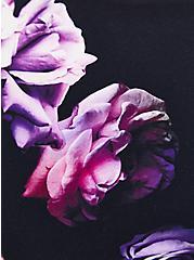 Black Floral Strappy-Back Wicking Sports Bra , FLORAL - BLACK, alternate