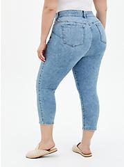 Crop Bombshell Skinny Jean - Premium Stretch Eco Light Wash, PALISADES, alternate