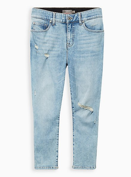 Crop Bombshell Skinny Jean - Premium Stretch Eco Light Wash, PALISADES, hi-res