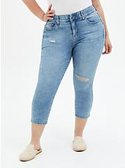 Crop Bombshell Skinny Jean - Premium Stretch Eco Light Wash, PALISADES, hi-res