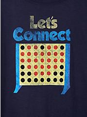 Slim Fit Crew Tee - Connect Four Navy, NAVY, alternate