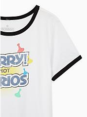 Slim Fit Ringer Tee - Sorry White , BRIGHT WHITE, alternate