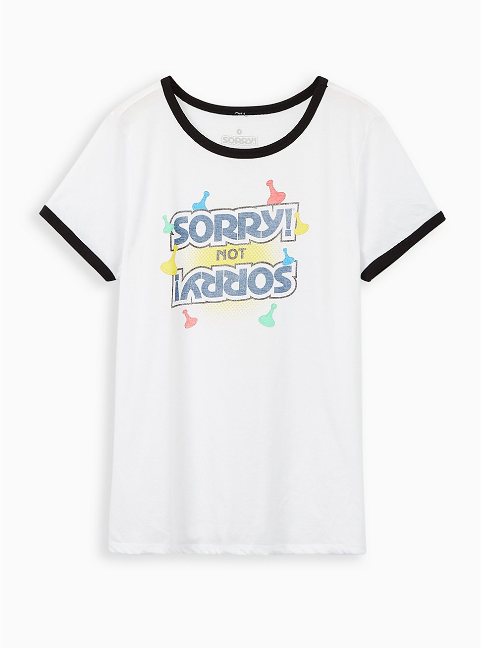 Slim Fit Ringer Tee - Sorry White , BRIGHT WHITE, hi-res