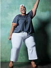 Plus Size Crop High Rise Wide Leg Jean - Vintage Stretch White, OPTIC WHITE, hi-res