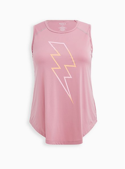 Blush Pink Bolt Wicking Active Tech Tank, MAUVE, hi-res