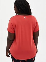 Cranberry Red Wicking Active Tech Tee, CRANBERRY, alternate