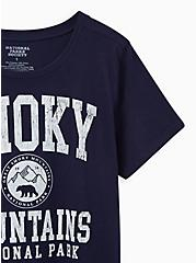 Slim Fit Crew Tee - Smoky Mountains Navy , PEACOAT, alternate