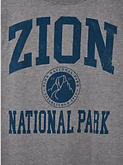 Slim Fit Crew Tee - Zion Grey , MEDIUM HEATHER GREY, alternate