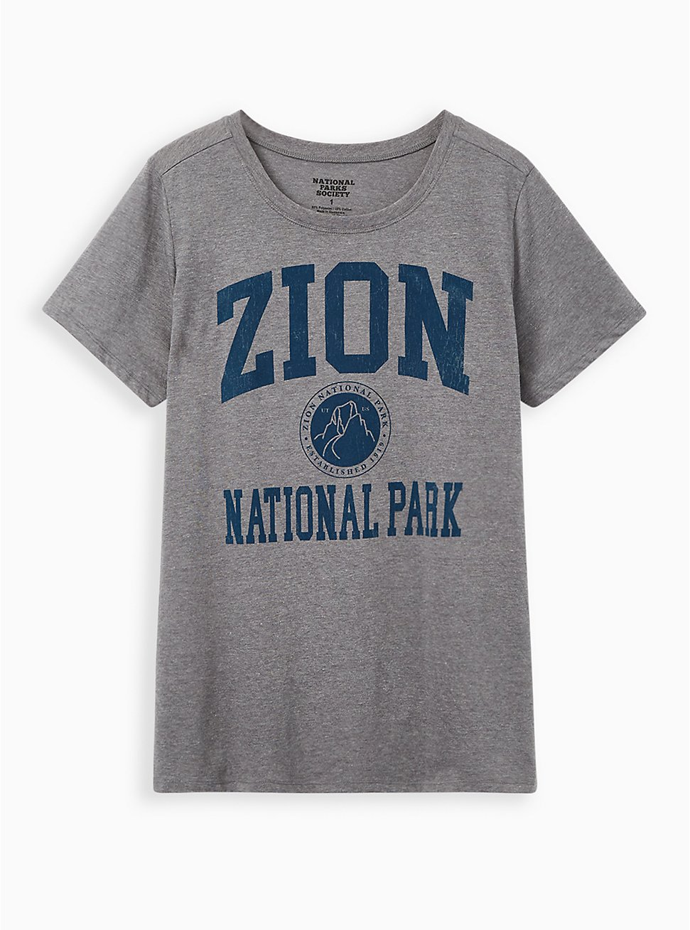 Slim Fit Crew Tee - Zion Grey , MEDIUM HEATHER GREY, hi-res
