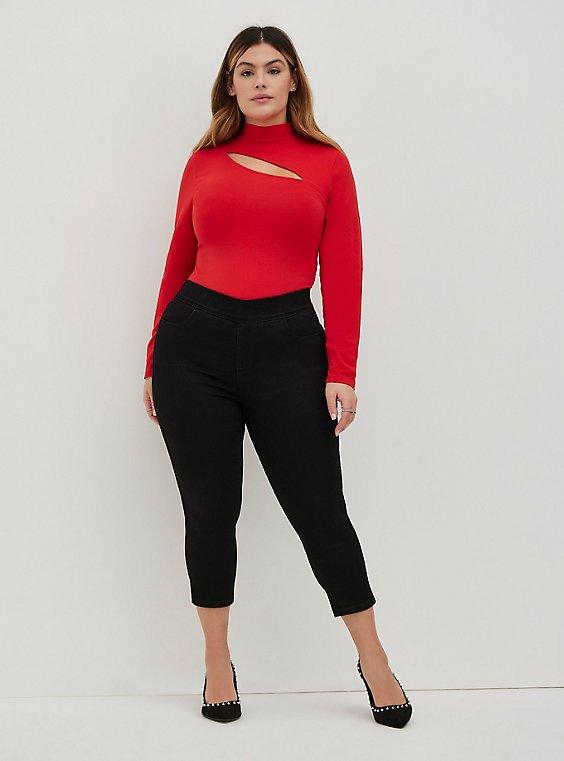 Plus Size Crop Lean Jean - Super Soft Black, DEEP BLACK, hi-res