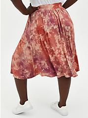 Plus Size Super Soft Tie-Dye Oatmeal Button Midi Skirt, DYE - MUSHROOM, alternate