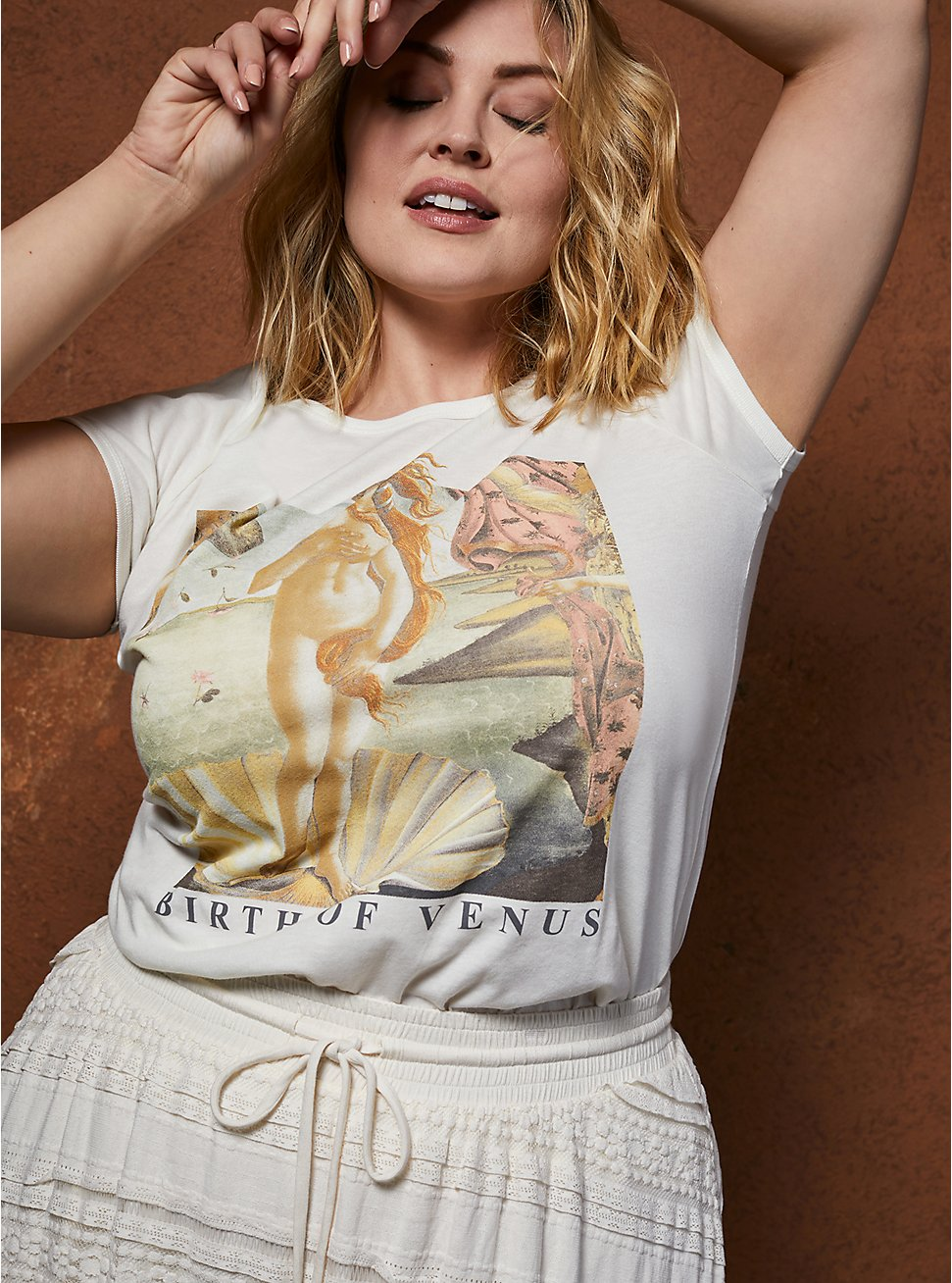 Classic Fit Ringer Tee - Birth Of Venus White, MARSHMALLOW, hi-res