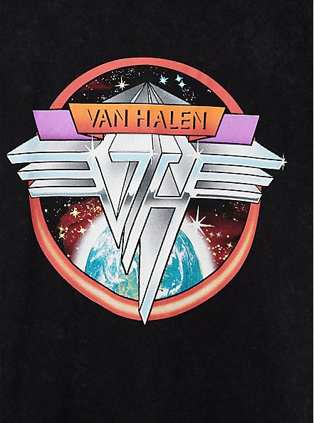 Classic Fit Crew Tee - Van Halen Mineral Wash Black, DEEP BLACK, alternate