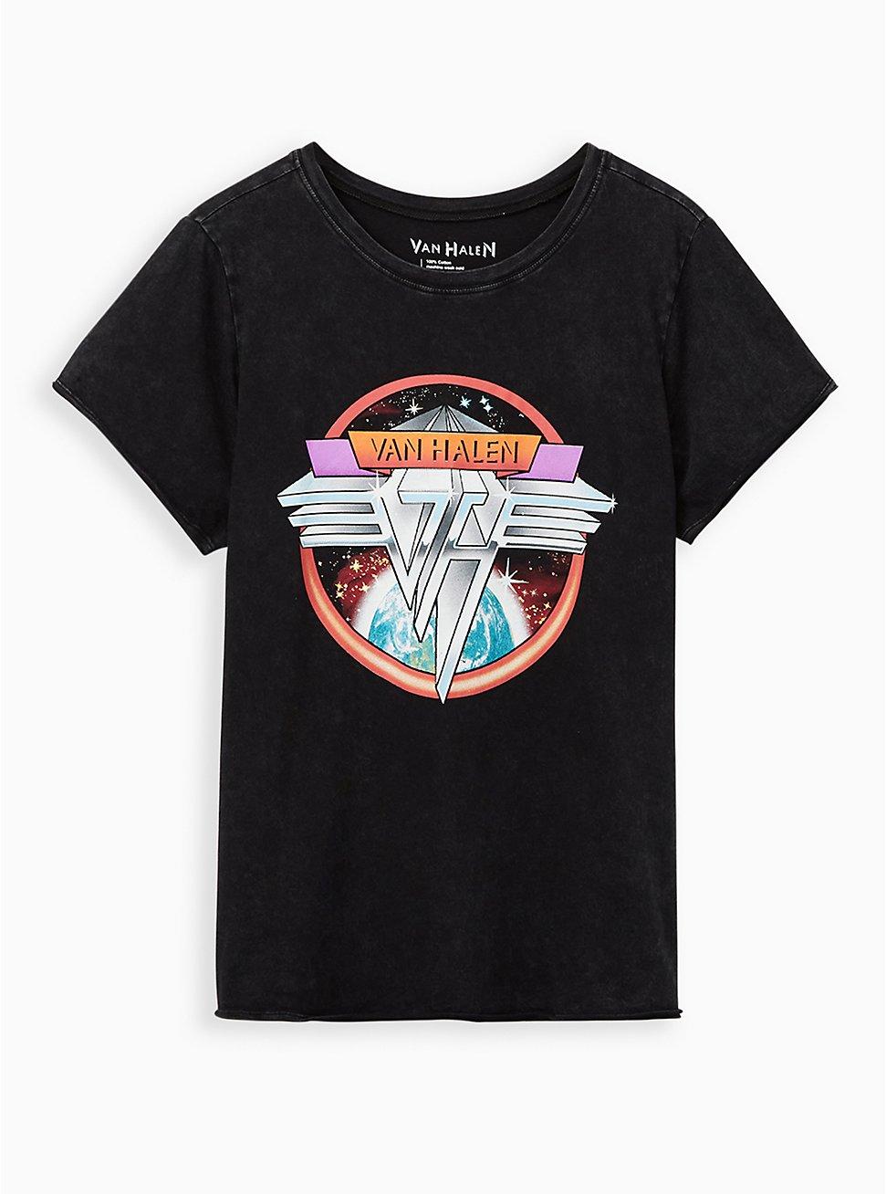 Classic Fit Crew Tee - Van Halen Mineral Wash Black, DEEP BLACK, hi-res