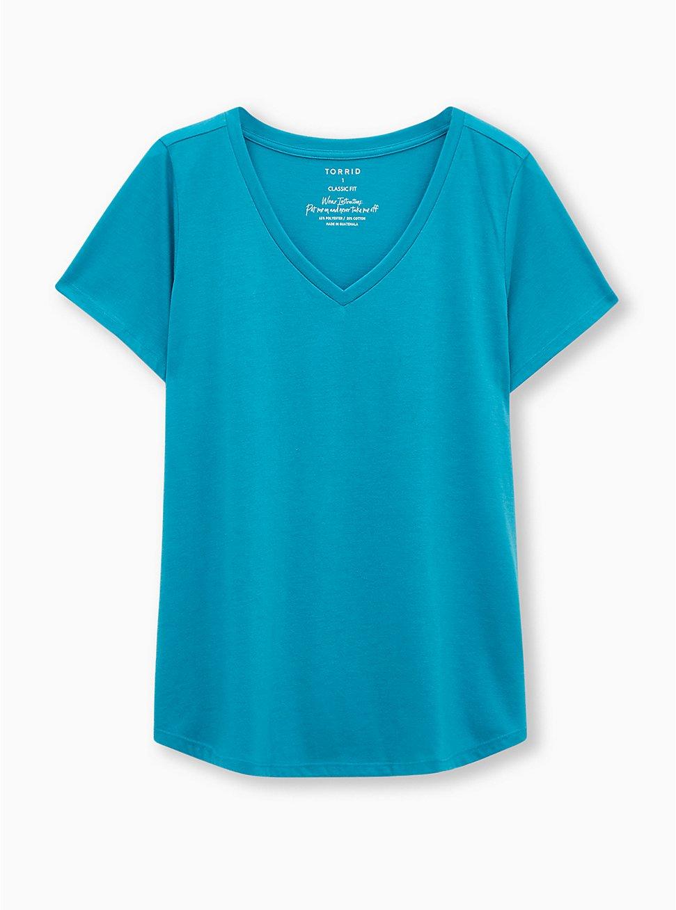 Girlfriend Tee - Signature Jersey Aqua, TEAL, hi-res