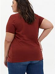 Everyday Tee - Signature Jersey Brick Red, MADDER BROWN, alternate