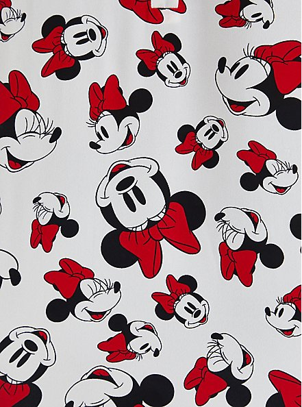 Harper Blouse - Disney Minnie Mouse Georgette White, MULTI, alternate
