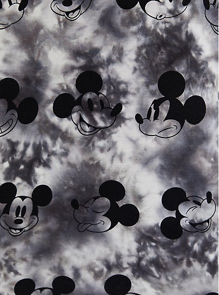 Plus Size Relaxed Fit Top - Disney Mickey Mouse Tie-Dye, TIE DYE - GREY, alternate