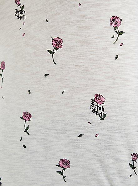 Disney Beauty & The Beast Super Soft Rose Tank , WHITE, alternate
