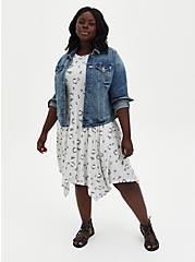 Disney Beauty & The Beast Chip Handkerchief Midi Dress, GREY, alternate