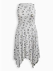 Disney Beauty & The Beast Chip Handkerchief Midi Dress, GREY, hi-res