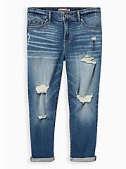 Crop Mid Rise Skinny Jean - Vintage Stretch Eco Medium Wash, MADE YOU LOOK, hi-res