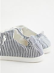 Riley - Black & White Stripe Canvas Sneaker, BLACK-WHITE, alternate