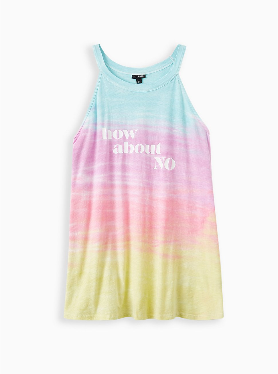 How About No Multi Wash High Neck Tank, TIE DYE, hi-res
