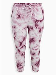Relaxed Fit Jogger Terry Grape Wash , TIE DYE, hi-res