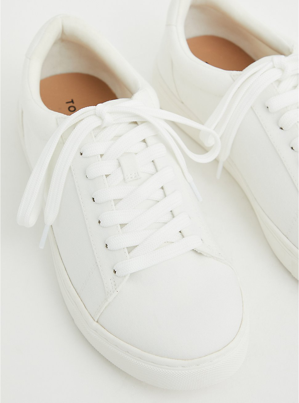 White Recycled Canvas Sneaker (WW), WHITE, hi-res