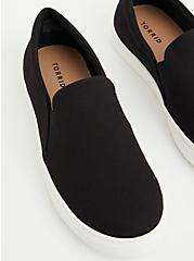 Black Recycled Canvas Slip-On Sneaker (WW), BLACK, alternate