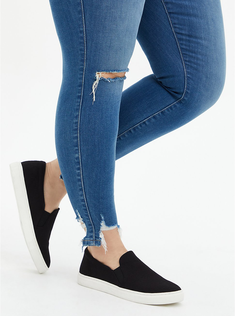 Black Recycled Canvas Slip-On Sneaker (WW), BLACK, hi-res