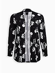 Open-Front Cardigan - Disney Mickey & Minnie Super Soft Black, MICKEY FACE TOSS, hi-res