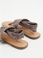 Cheetah Stretch Fabric T-Strap Sandal (WW), ANIMAL, alternate