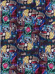 Plus Size Disney Beauty & The Beast Stain Glass Button-Back Top , MULTI, alternate