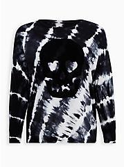LoveSick Super Soft Skull Black & Ivory Tie-Dye Tee, TIE DYE, hi-res
