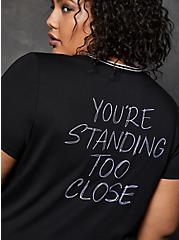 LoveSick You're Standing Too Close Black Ringer Tee, , alternate