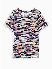 Plus Size LoveSick Relaxed Fit Crew Tee - Camo Multi, CAMO, hi-res