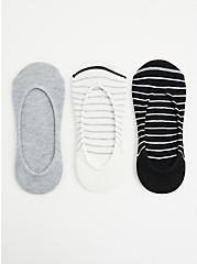Stripe Multi-Pack No Shows - Pack of 3 , MULTI, hi-res