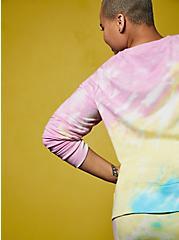 LoveSick Heart Breaker Fleece Multi Tie-Dye Crewneck Sweatshirt, TIE DYE, alternate