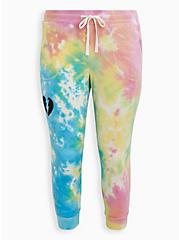 LoveSick Heart Breaker Classic Fit Jogger - Fleece Multi Tie-Dye Jogger  , TIE DYE, hi-res