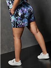 LoveSick Fleece Multi Tie-Dye Pull On Short, TIE DYE, alternate