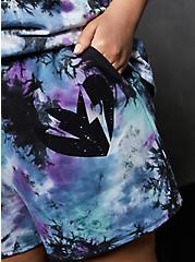 LoveSick Fleece Multi Tie-Dye Pull On Short, TIE DYE, hi-res